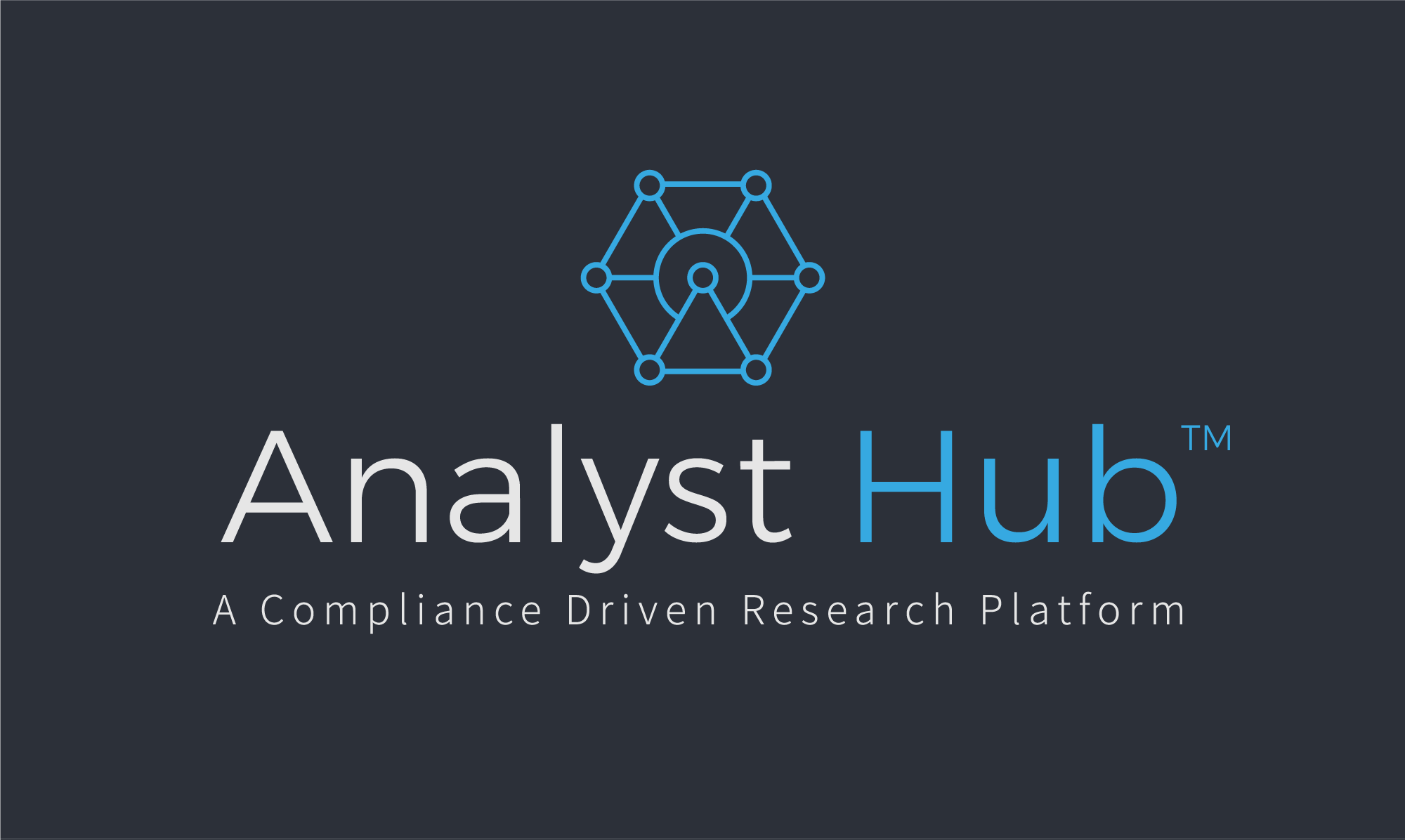 analyst hub logo on dark background